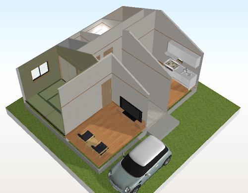 3DマイホームデザイナーLS4画面
