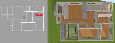 立体化で家具を配置