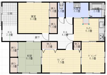 住宅設備の配置