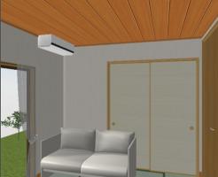 天井材を貼る04