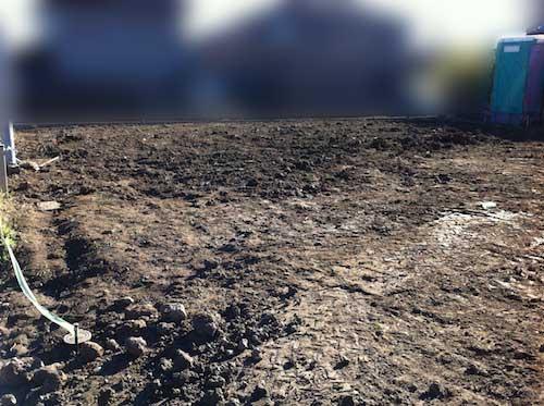 地盤改良工事完了