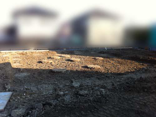 地盤改良工事の杭