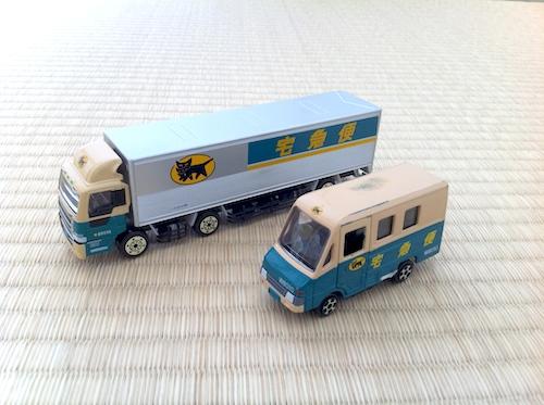10tトラックとウォークスルーW号車の大きさ