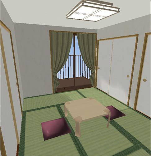 座卓のある6畳の部屋