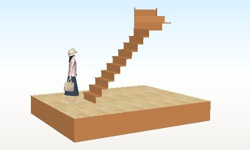 我が家の階段パース図