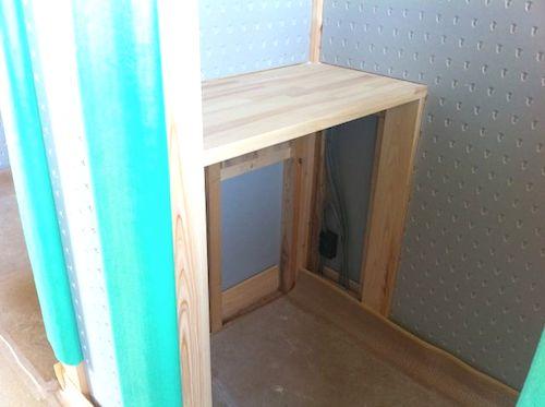 2階トイレの棚の天板