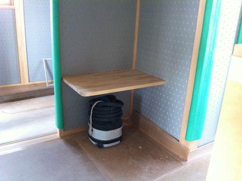 2階の洗面カウンター