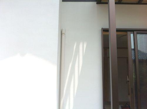 1階エアコン工事配管カバー