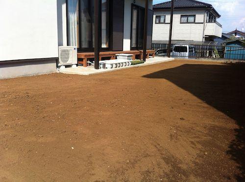 土の入れ替え工事完了