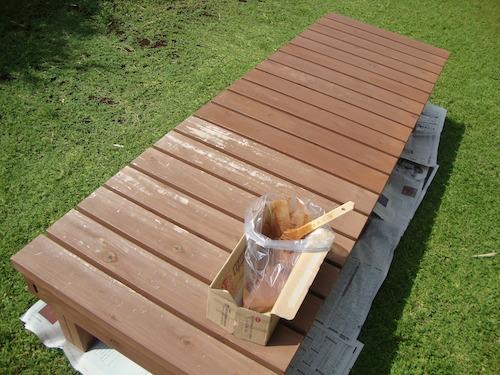 濡れ縁の塗装1