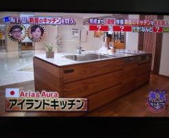 aria&auraのアイランドキッチン
