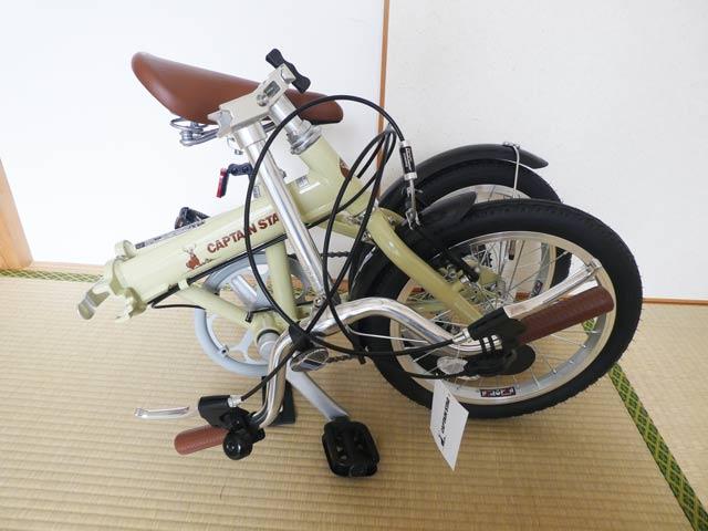 緩衝材を取った後の自転車