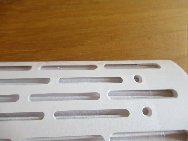 フィルターケースにテープを貼ったところを拡大