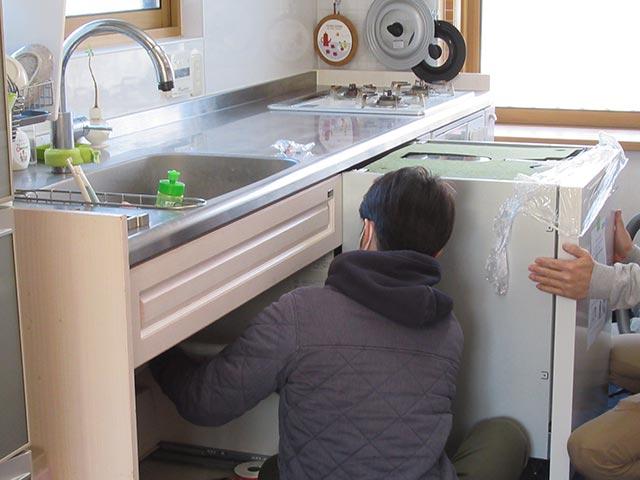 ミーレ食洗機をキッチンに収納