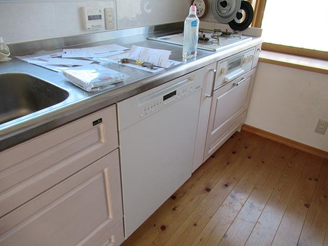 ミーレ食洗機の設置完了