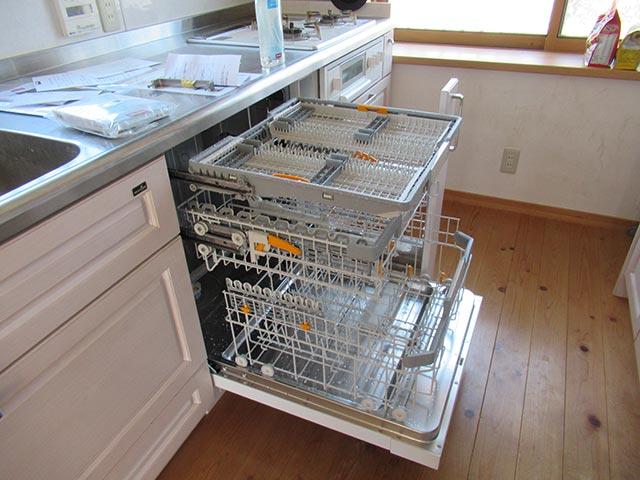 ミーレ食洗機のドアを全開