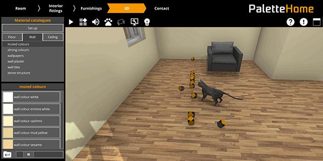 Palette Homeの立体表示(猫)